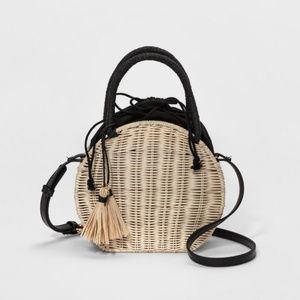 Straw Circle Crossbody Bag - A New Day™